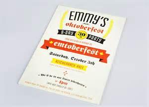 Em S Oktoberfest Th  Ee  Birthday Ee   Party Invitations