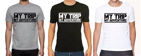 Kaos Katun Murah My Trip My Adventure Size S Xl Cotton Combed 100 jual kaos katun murah my trip my adventure size sxl cotton