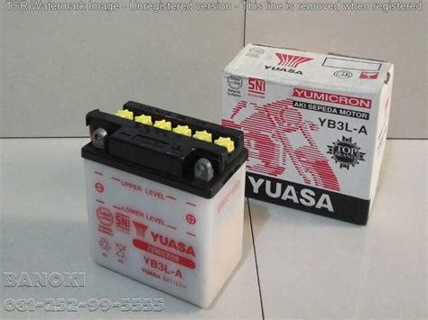 Baterai 4 Soket 2 4 8v Buat Mobil Remot jual baterai aki motor yuasa yb3la harga murah surabaya oleh pt indo surya daya