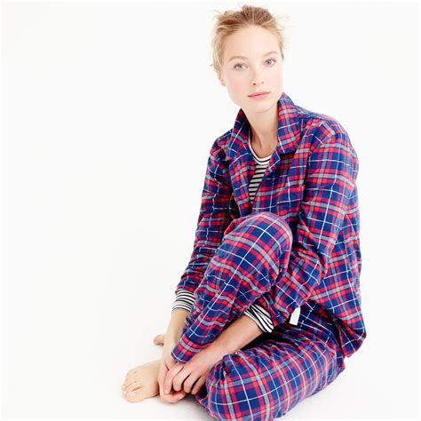 Burberry Pajamas 2 Set j crew purple sparkle plaid flannel pajama set lyst