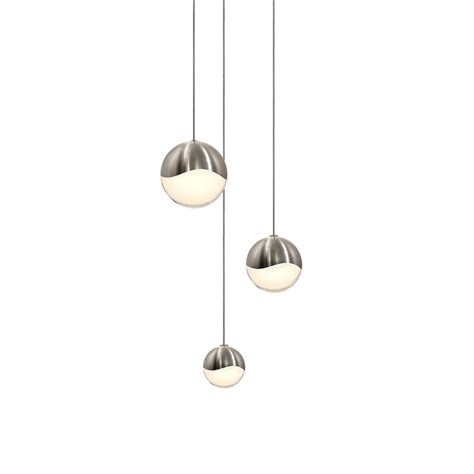 Multi Light Pendant Fixture Sonneman 2914 13 Ast Grapes Contemporary Satin Nickel Led Assorted Multi Pendant Light Fixture