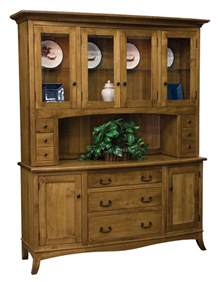 Dining Room China Cabinet Hutch Amish Cottage Farmhouse Hutch Dining Room China Cabinet Solid Wood Furniture Ebay