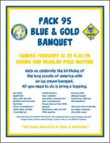 Cub Scout Blue And Gold Program Template by Cub Scouts Blue Gold Banquet Ideas On Cub