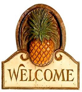Home Decor Wall Plaques Pineapple Welcome Wall Plaque