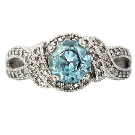 vintage blue engagement rings wedding and bridal
