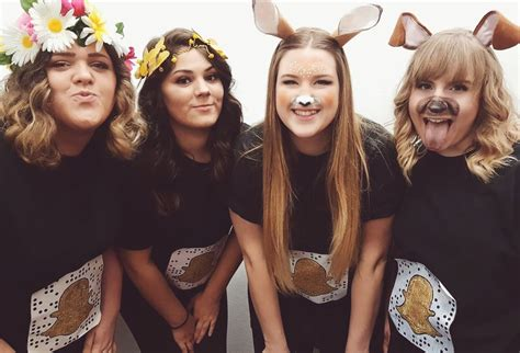 snapchat filter group costume flower crown filter