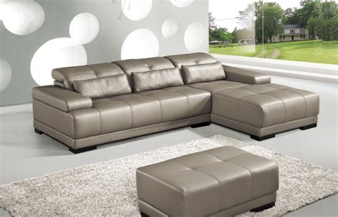 Genuine Leather Sectional Sofas cow genuine leather sofa set living room furniture