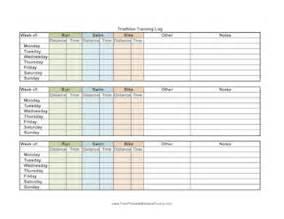 printable triathlon training log
