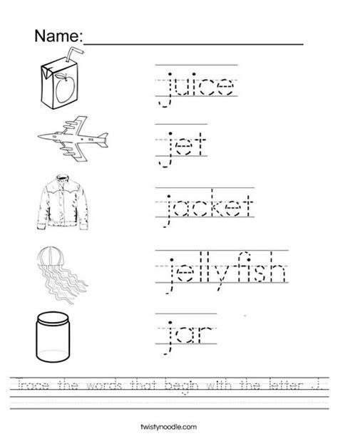 5 Letter Words J Start number names worksheets 187 letter j worksheets free