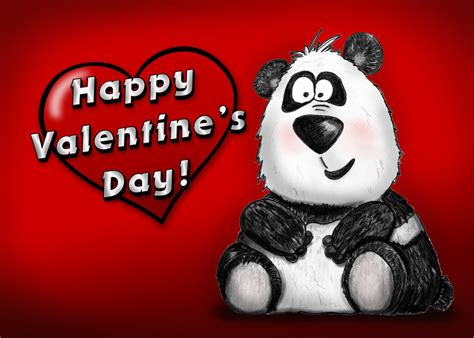 valentines day panda happy s day panda by bnspencer on deviantart