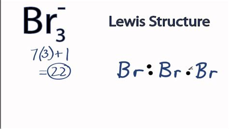 lewis dot diagram for bromine br3 lewis structure how to draw the lewis structure for