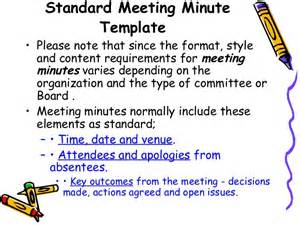 How To Type Minutes From A Meeting Template by How To Write Effective Meeting Minutes