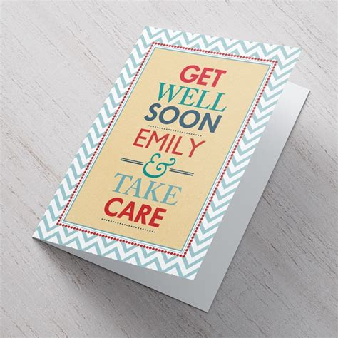 how to make a get well soon card get well soon and take care a great card to make them