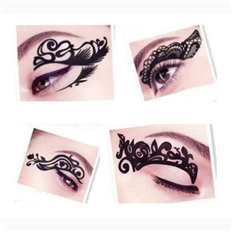 New Eyeliner Tempel Eyeliner Sticker Sticker Eyeliner Eyeliner 2pc eye 3d tattoos eyeliner waterproof temporary