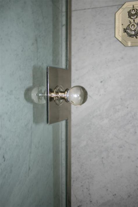 Shower Door Pull Handle Custom Shower Door Handle Polished Nickel The Architectural Hardware