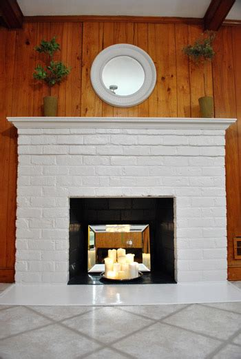 inside fireplace paint how to prep prime and paint a brick fireplace young