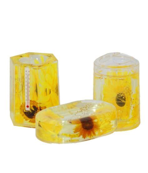 yellow bathroom set buy acroset yellow acrylic bathroom set 3 pcs online at low price in india snapdeal