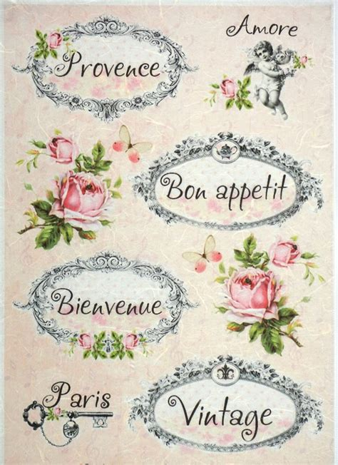 Decoupage Vintage - rice paper for decoupage decopatch scrapbook craft sheet