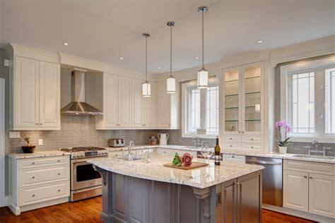Alaska white granite kitchen traditional with kosher kitchen gray finish