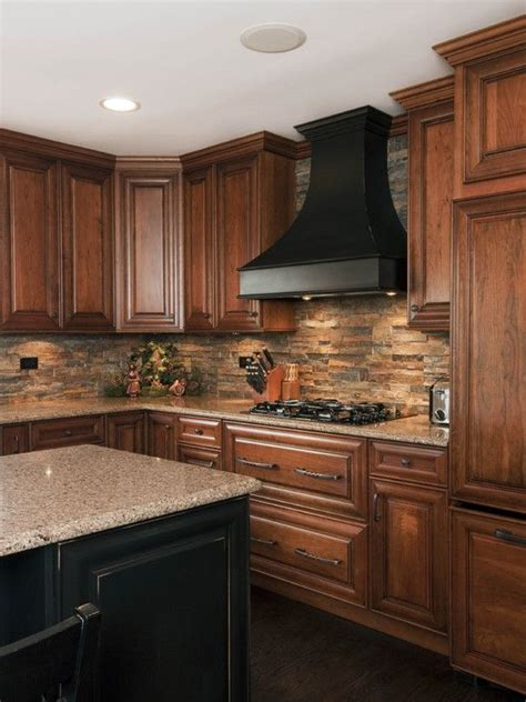 backsplashes in kitchens kitchen stone backsplash house ideas pinterest stone