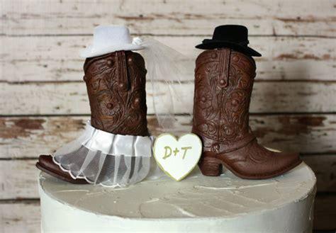 Western Cowboy Boots Wedding Cake Topper western Wedding