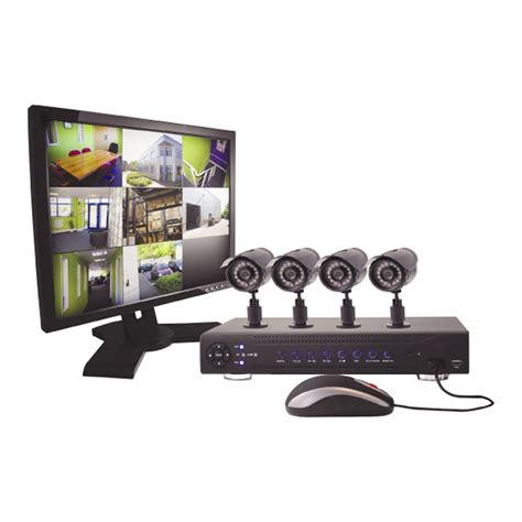 1tb h 264 8ch network dvr 4xccd cameras 19 quot monitor home