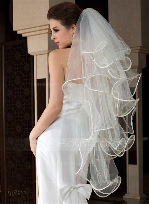four tier fingertip bridal veils with scalloped edge 006036624 wedding veils jjshouse