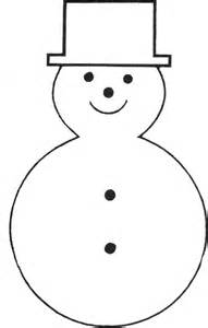 Snowman Outline Simple by Free Printable Snowman Template Bonhommes De Neige Patterns Search And Black