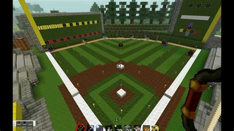 minecraft sports stadium minecraft baseball game no mods youtube