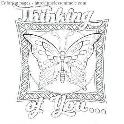 thinking of you coloring page timeless miracle com