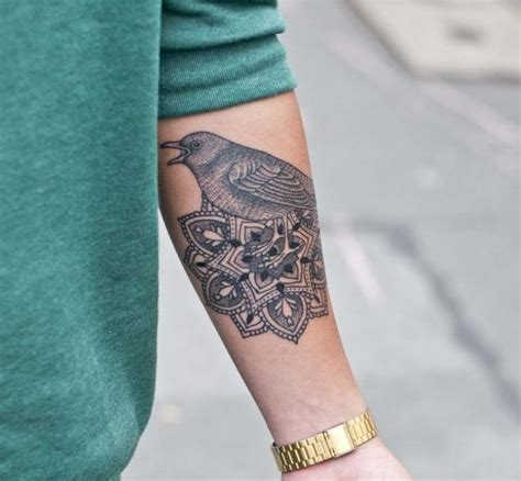 henna tattoo unterarm henna vogel makedes