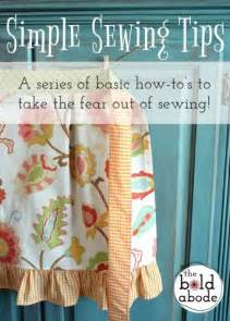 Simple Apron Sewing Project