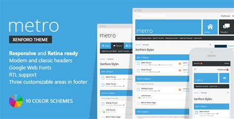 templates for xenforo metro xenforo responsive retina ready theme by