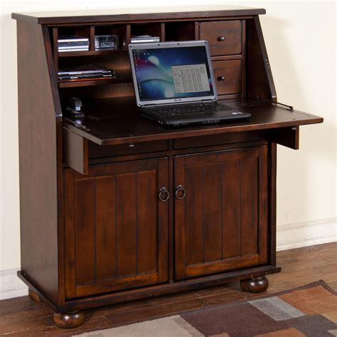 drop leaf laptop desk armoire by sunny designs wolf and