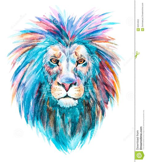 watercolor lion tutorial watercolor raster lion stock illustration image of drawn
