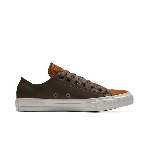 converse custom chuck all leather low top shoe