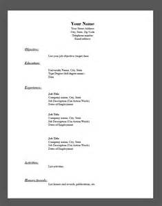 Fill In Resume Templates by Sle Fill In The Blank Resume Pdf Resumes Design