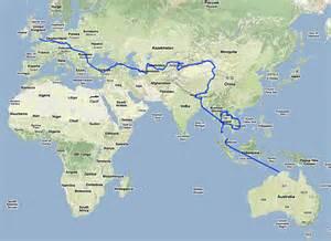 London to australia map