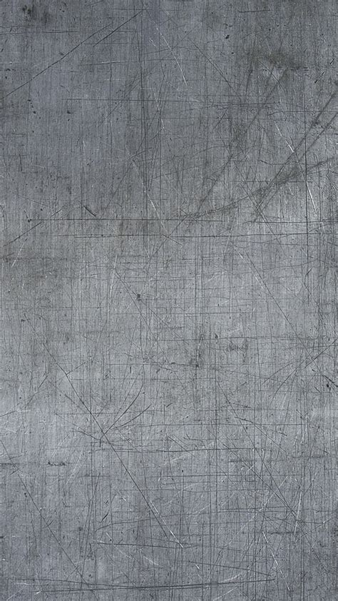 scratched gray metal surface android wallpaper