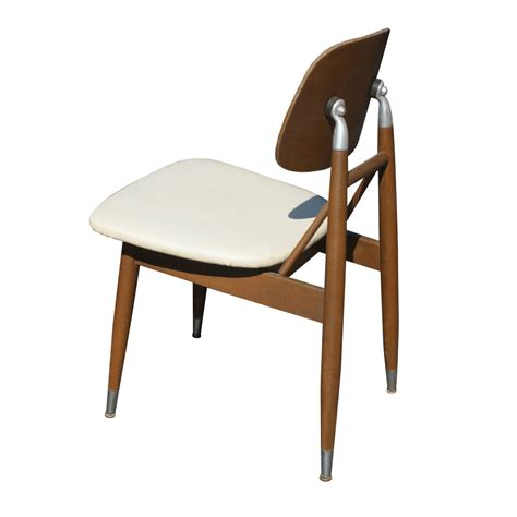 Wood Table Metal Chairs by Vintage Mid Century Carrom Wood And Metal Chairs Ebay