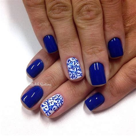 blue pattern nails 15 cool blue nail designs that will inspire you sheideas