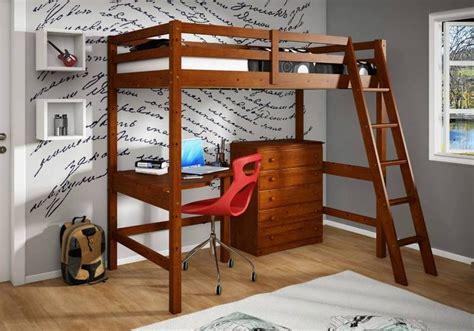 study loft bed donco 375e study loft bed with desk