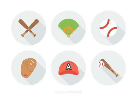 free vector free baseball vector icons free vector