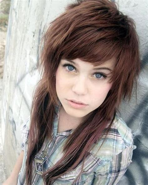 emo choppy layers with bangs front and back pictures 67 emo hairstyles for girls i bet you haven t seen before