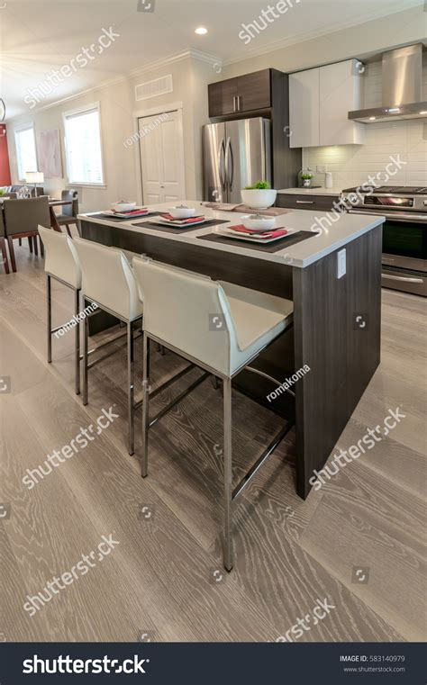 kitchen counter tables nicely decorated kitchen counter table iceland stock photo