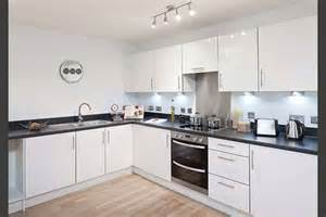 White Laminate Kitchen Cabinets Specification Kitchens Manhattan Fitted Kitchen With
