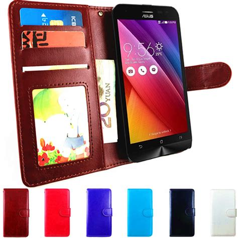 Leather Flip Cover View Asus Zenfone Go 45 New phone flip for asus zenfone 2 laser ze500kl z00ed asus z00rd wallet leather cover for