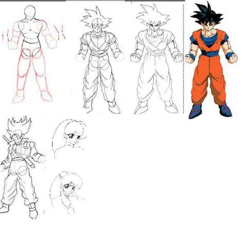 imagenes de goku que se puedan dibujar como aprender a dibujar tutorial imagenes info
