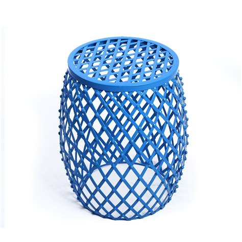 Wire Stool Side Table by Adeco Home Garden Accents Wire Iron Metal Stool Side