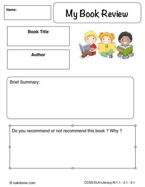 grade book review template book review template for primary school search